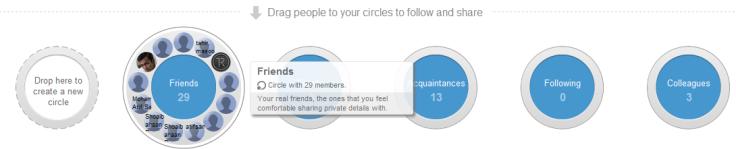 G+ circle