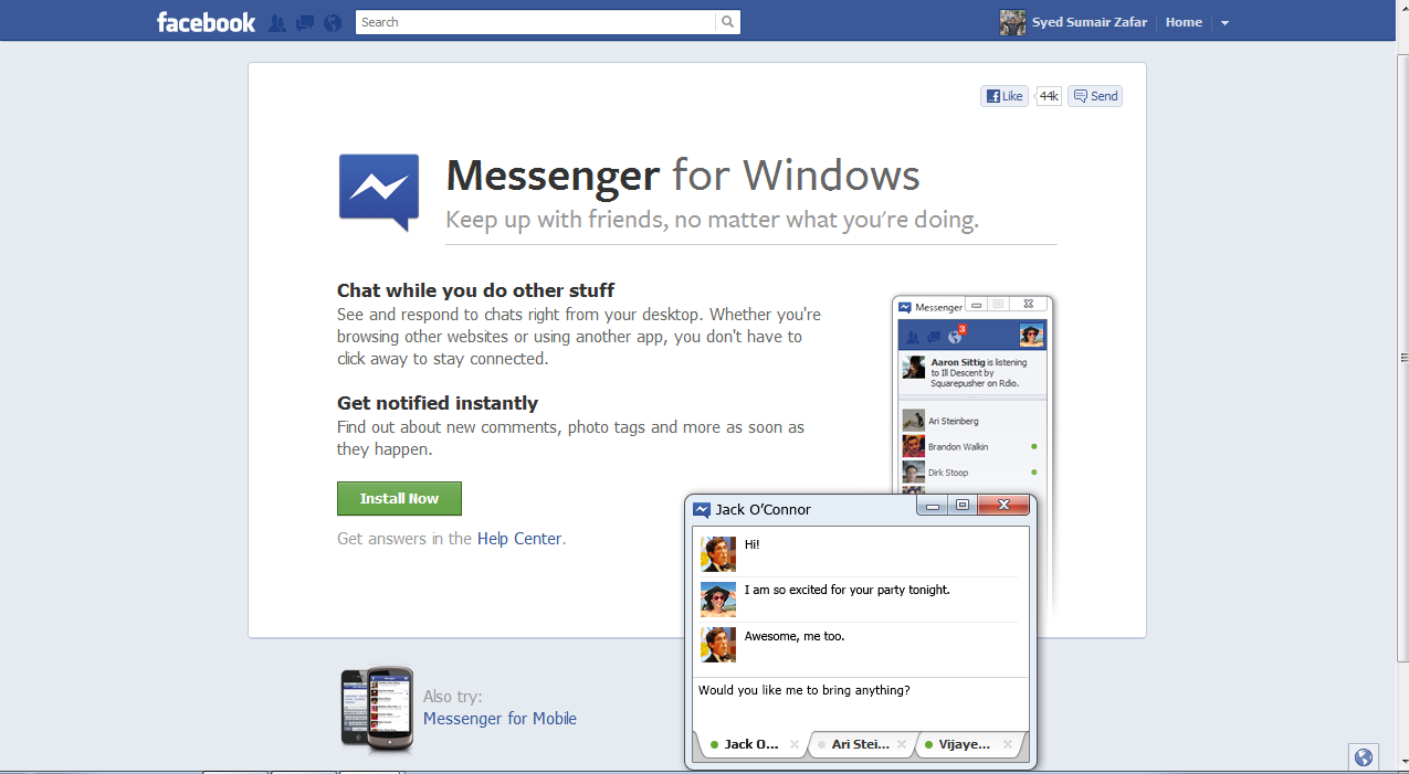 how to close facebook messenger